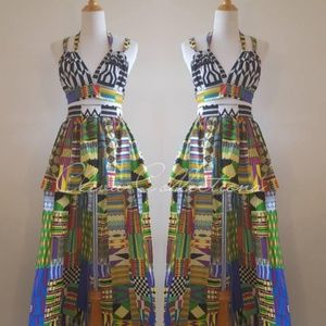 Dresses & Skirts - Ankara Kente Hi Low Skirt Set